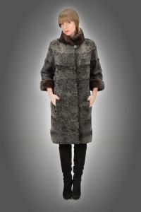 Cappottino astrakan + visone grey