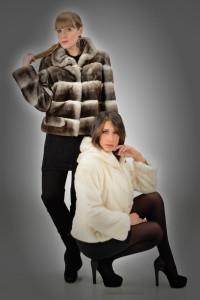 Giacchino orilag e giacchino visone perla con cappuccio