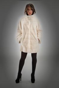 Cappottino visone bianco
