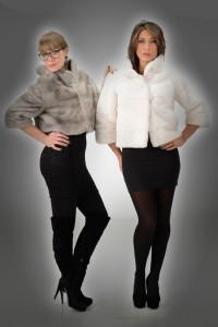 Giacchino visone zaffiro e giacchino visone bianco