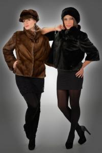 Giacchino visone brown e giacchino visone black